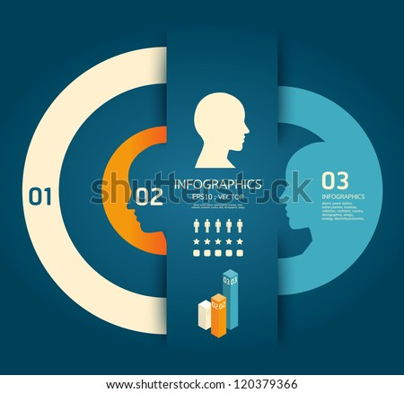 Infographics Creative pencil Template  / concept vector illustration - stock vector