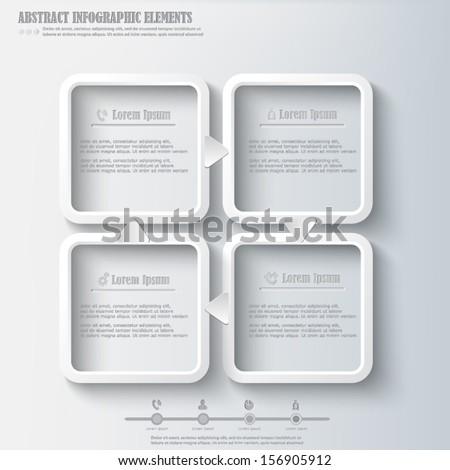 Infographics design element - stock vector