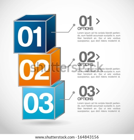 infographics design over  gray background vector illustration