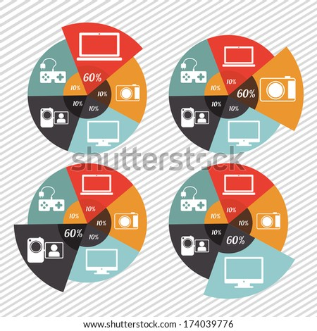 infographics design over lineal  background vector illustration  - stock vector