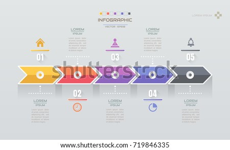 Infographics design template icons process diagram stock vector infographics design template with icons process diagram vector eps10 illustration ccuart Choice Image