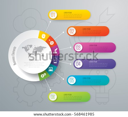 Infographics Design Vector Marketing Icons Can Stock