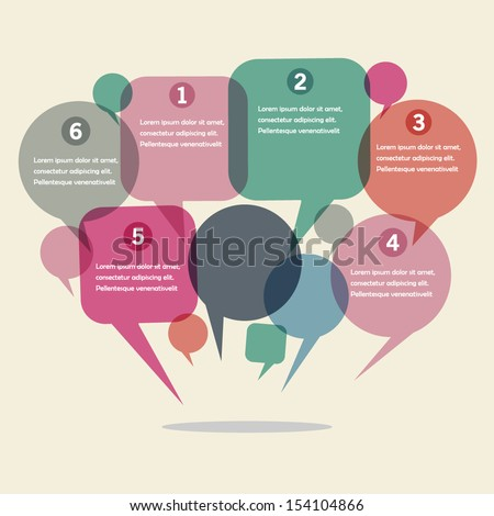 infographics design with speech bubble - stock vector