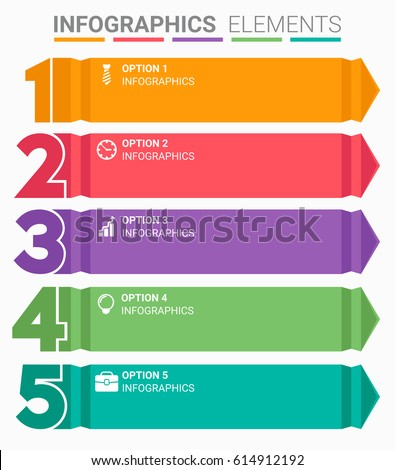 stock vector infographics element abstract design the number top five list template 614912192