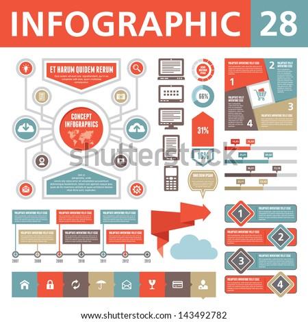 Infographics Elements 28 - stock vector