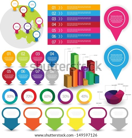 infographics elements - stock vector