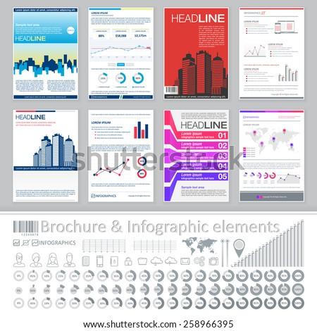 Infographics Elements Creative Brochure Template Design Stock - Infographic brochure template