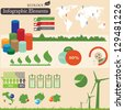 Infographics elements.  Ecology symbols. For you design - stock