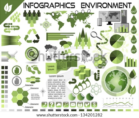 Infographics Environment Ecology EPS10 - All objects grouped separately and easy to edit - stock vector
