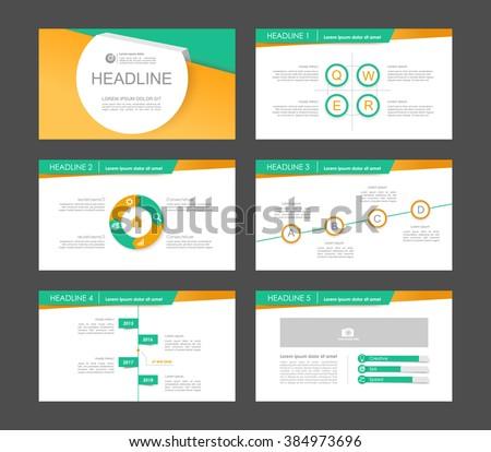 Infographics for leaflet,flyer,presentation,templates,web,marketing. Business infographics, orange and green version. - stock vector