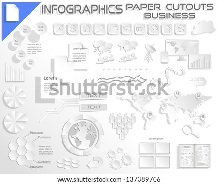 Infographics Paper Cutout Business EPS10