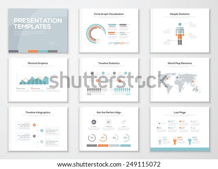 Infographics presentation templates and business brochures. Information graphics for advertisements, magazines, booklets, websites, prints, marketing etc. - stock vector