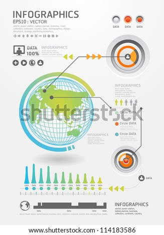 infographics set and Information Graphics vector.Modern style - stock vector