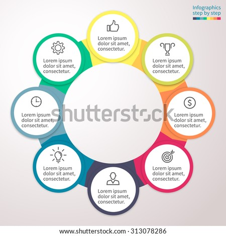 Infographic Element Chart Graph Diagram 4 Stock Vector 296718923
