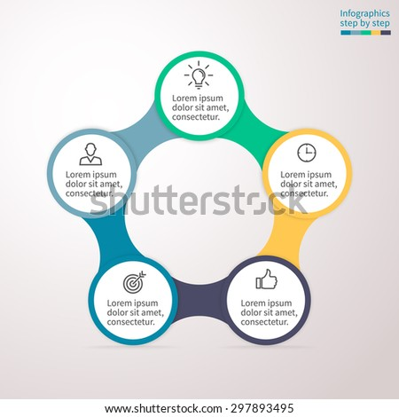 infographics step by step universal abstract stock vector. Black Bedroom Furniture Sets. Home Design Ideas