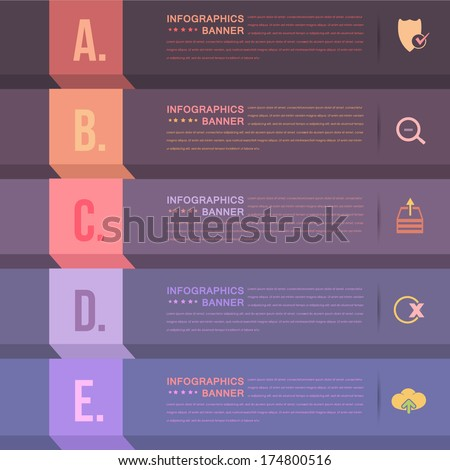 Infographics Template and Web Elements - stock vector