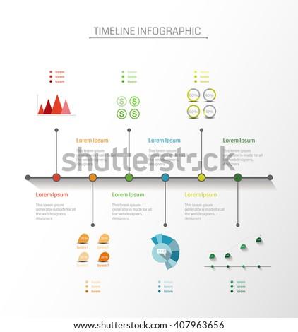 time line infographic vector illustration stock vector 238704139 shutterstock. Black Bedroom Furniture Sets. Home Design Ideas