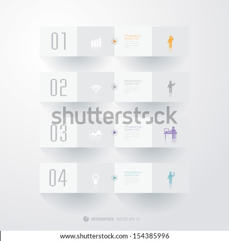 Infographics vector design template. Modern business step origami style options banner  can be used for workflow layout,  diagram, number options, step up options,  web template. - stock vector