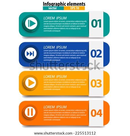 Infographics vector design template. Vector illustration. - stock vector