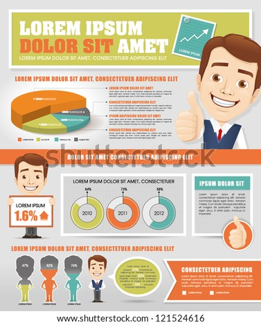 Infographics with Businessmen - stock vector