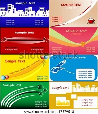 informal business card templates - stock vector