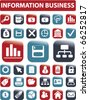 information & business buttons. vector - stock vector
