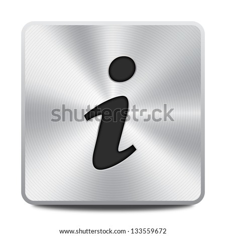 Information icon / button - stock vector