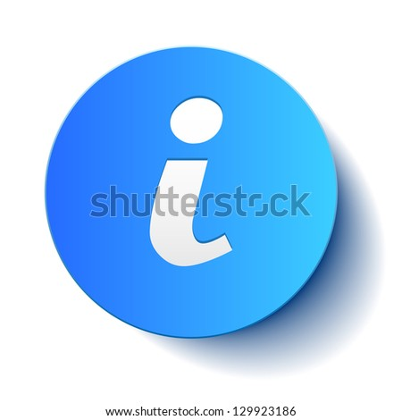 Information icon paper - stock vector