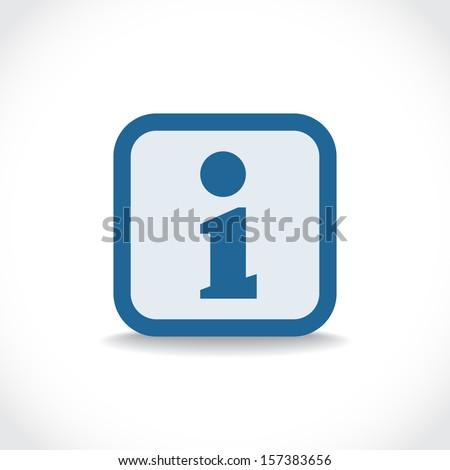 Information icon, symbol with drop shadow, vector pictogram - stock vector