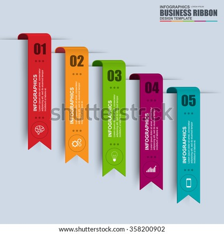 Information infographics design. Infographics statistic vector. Infographic for presentation. Infographic banner or infographic elements. Infographic ribbons information set. - stock vector