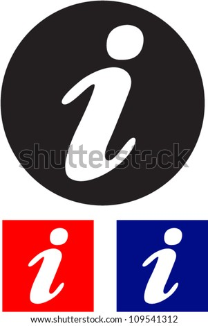 Information sign. Vector icon. - stock vector