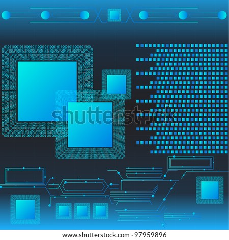 Information Technology With Binary Language. Jpeg Version Also Available In Gallery. - stock vector