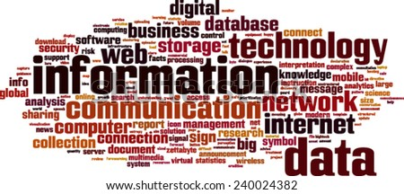 Information word cloud concept. Vector illustration - stock vector