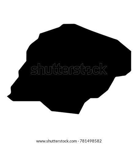 Inisheer map. Island silhouette icon. Isolated Inisheer black map outline. Vector illustration.