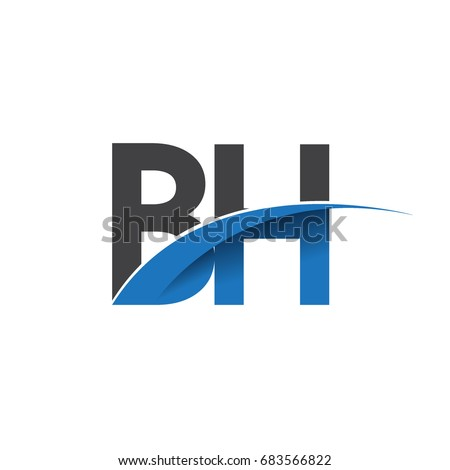 Initial Letter Bh Logotype Company Name Stock Vector 683566822
