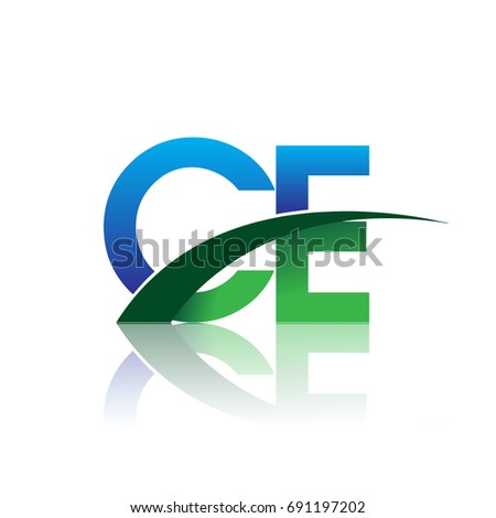Initial Letter Ce Logotype Company Name Stock Vector 2018