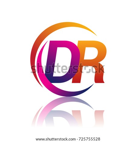 Initial Letter Dr Logotype Company Name Stock Photo Photo Vector