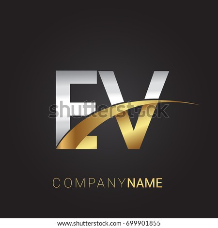 Initial Letter Ev Logotype Company Name Stock Vector 699901855