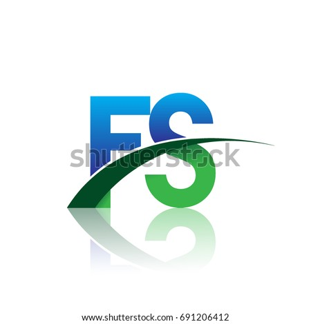 Initial Letter Fs Logotype Company Name Stock Vector 691206412