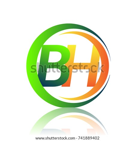 Initial Letter Logo Bh Company Name Stock Photo Photo Vector