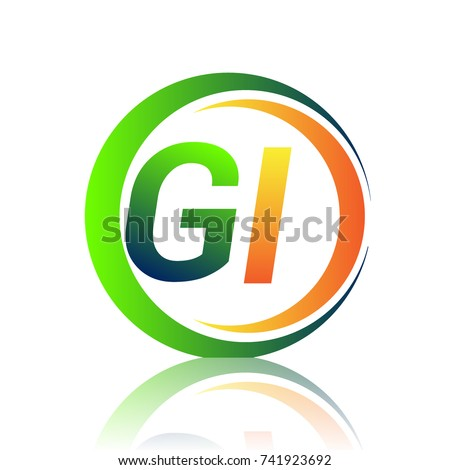 Initial Letter Logo Gi Company Name Stock Vector 2018 741923692