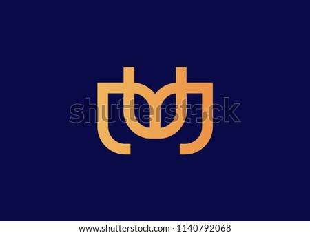 initial letter logo mu logo template stock vector 1140792068