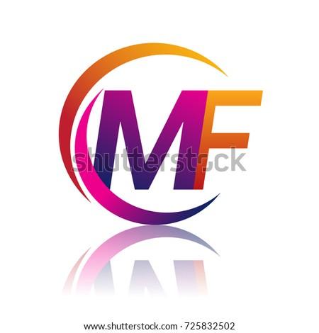 Mf Logo Design Circle