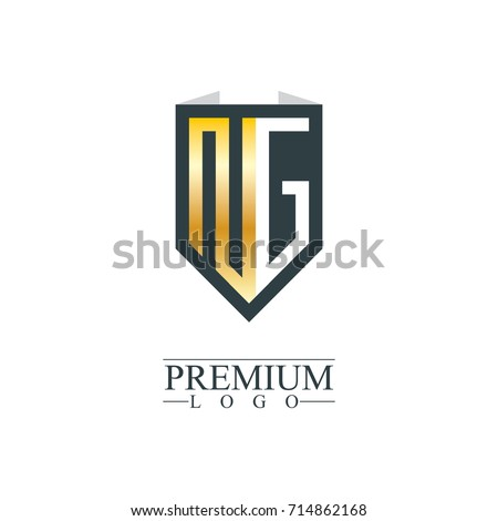 Initial Letter NG Company Design Logo Stock Vector 714862168 ...