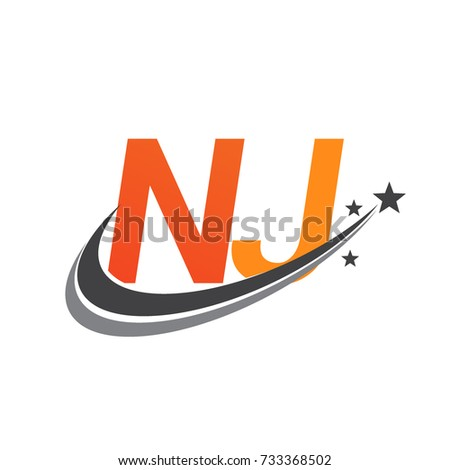 Initial Letter Nj Logotype Company Name Stock Photo Photo Vector