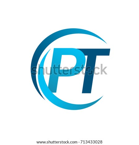 Initial Letter Pt Logotype Company Name Stock Vector Hd Royalty