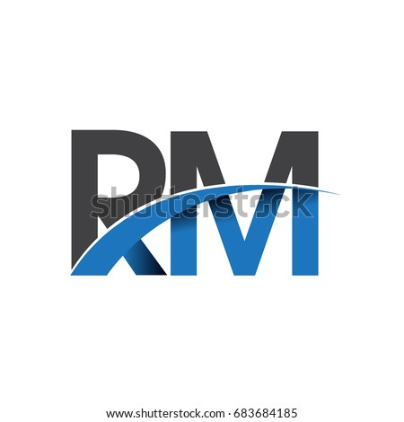 Initial Letter Rm Logotype Company Name Stock Vector Hd Royalty