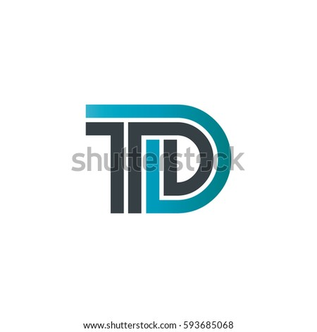 Initial Letter Td Linked Design Logo Stock Vector Hd Royalty Free