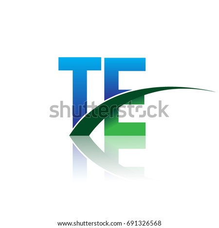 Initial Letter Te Logotype Company Name Stock Photo Photo Vector