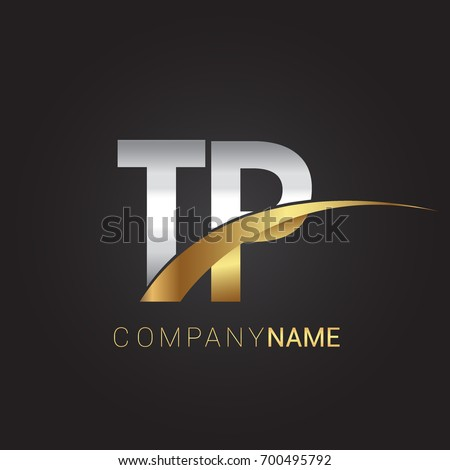 Initial Letter Tp Logotype Company Name Stock Vector 700495792